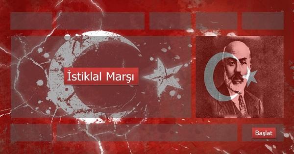 12 Mart İstiklal Marşı Sesli Slaytı
