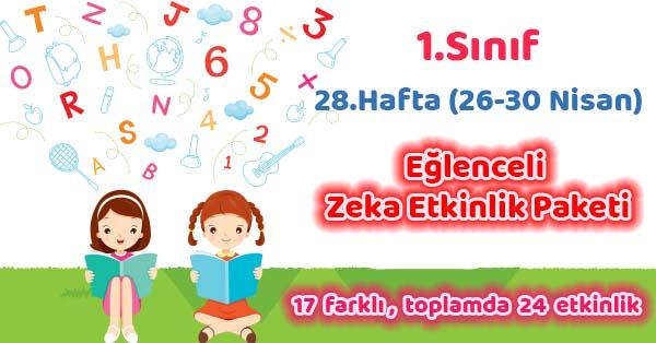 2020-2021 Yılı 1.Sınıf 28.Hafta Eğlenceli Zeka Etkinlik Paketi