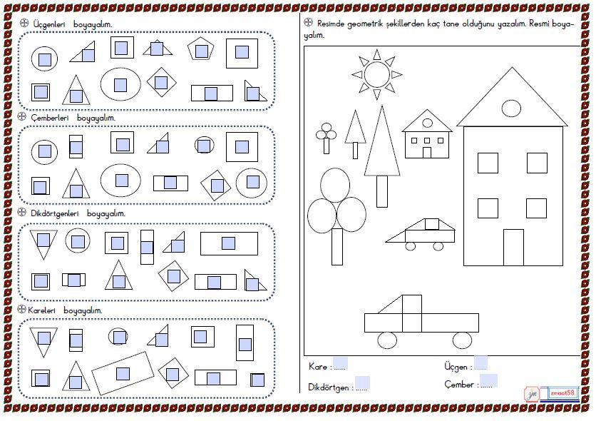 2.Sınıf Matematik Geometirk Şekiller 2