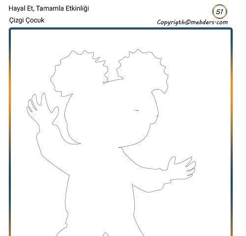 Hayal Et, Tamamla Etkinliği 51 - Çizgi Çocuk 14