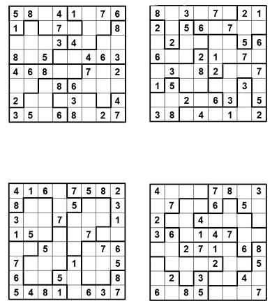 Parçalı Sudoku 1