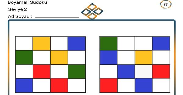 Boyamalı Sudoku 11