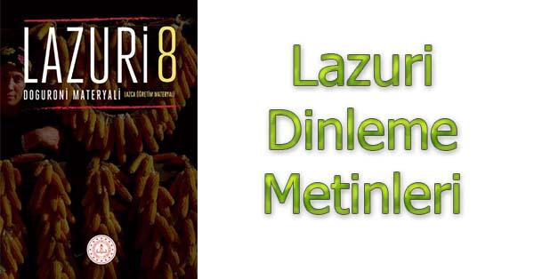 8.Sınıf Lazuri Lazca Öğretim Materyali Dinleme Metinleri - Tüm Ses Dosyaları mp3
