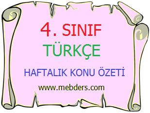 4. Sınıf Türkçe Hece Bilgisi Konu Özeti
