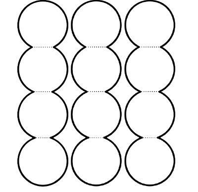 4'lü akordiyon dairelerle not yazma şablonu