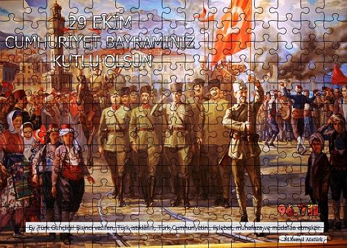 Cumhuriyet Panosu Puzzle Poster (180 Parça)