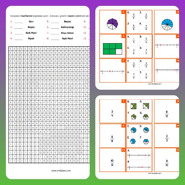 4. Sınıf Matematik Kesirler - Kodlamalı Test Etkinliği