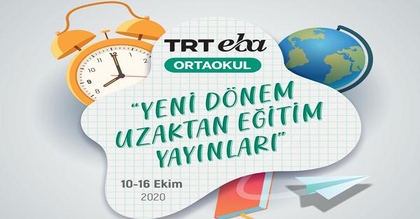 10 Ekim - 16 Ekim Arası EBA TV Ortaokul Yayın Akışı, Dersler, Konular