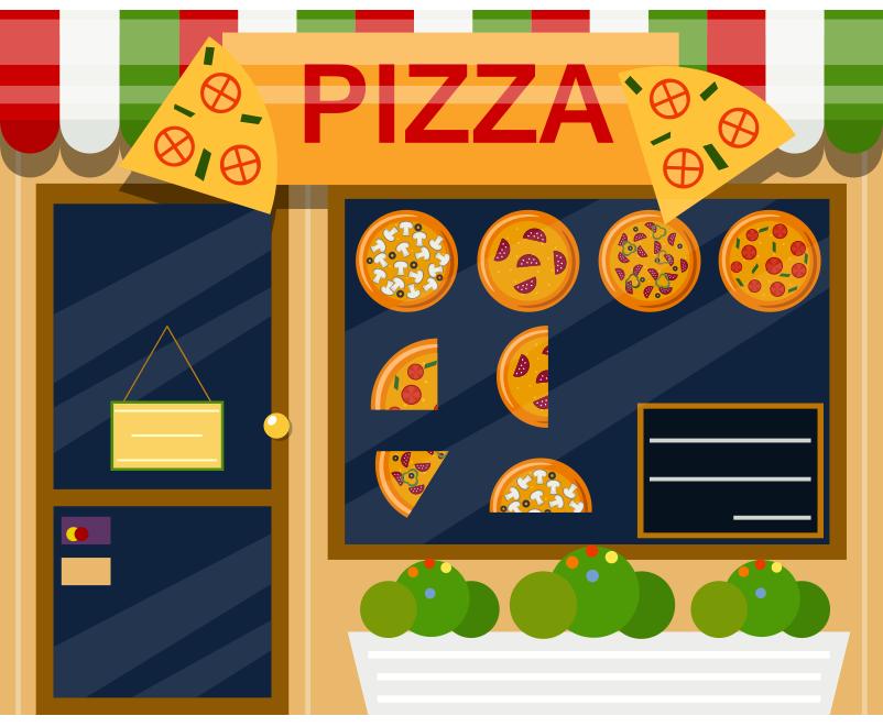 Pizzacı bina resmi png
