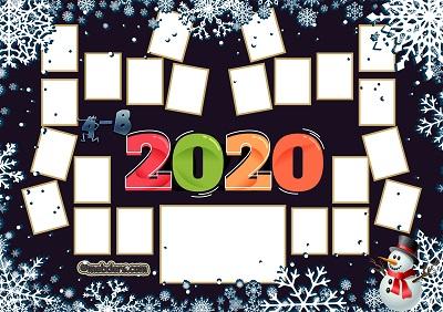 4B Sınıfı için 2020 Yeni Yıl Temalı Fotoğraflı Afiş (22 öğrencilik)