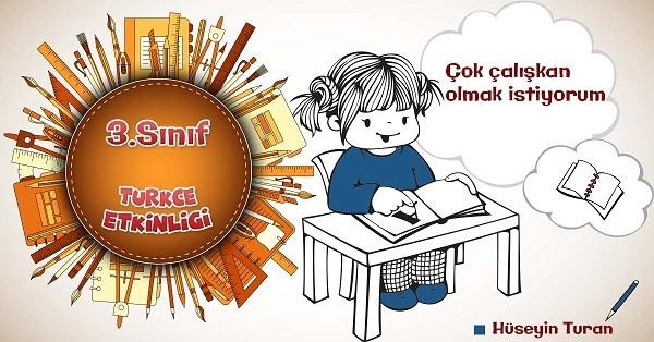 3.Sınıf Türkçe Günlük Yazma Etkinliği