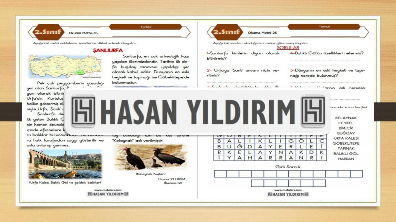 2.Sınıf Türkçe Okuma Metni-26 (Şanlıurfa)