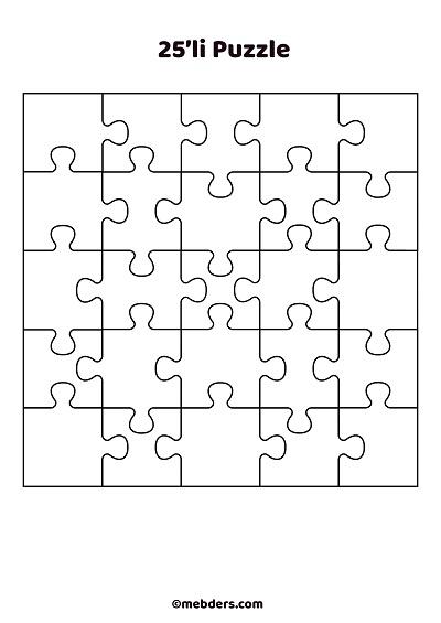 25'li puzzle şablon 2