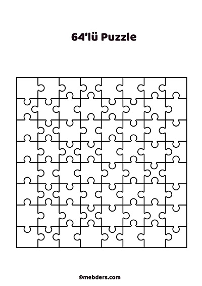 64'lü puzzle şablon