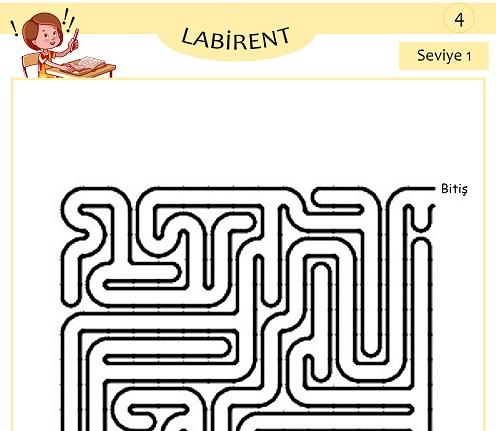 Seviye 1 - Labirent Bulmaca Etkinliği 4