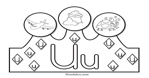 1.Sınıf İlkokuma Harfli Taçlar - U Sesi