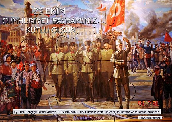 Cumhuriyet Panosu Puzzle Poster - 97.Yıl (6 Parça)