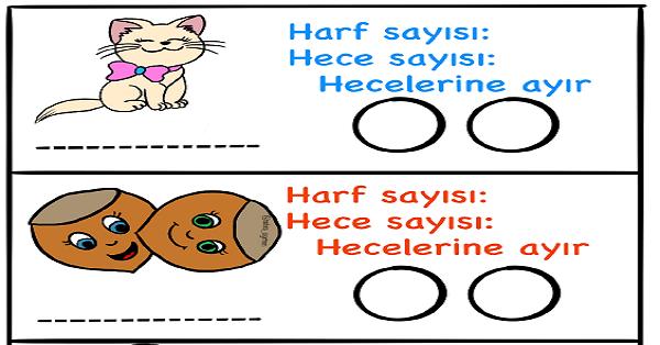 1.Sınıf Türkçe Harf - Hece - Etkinlikleri