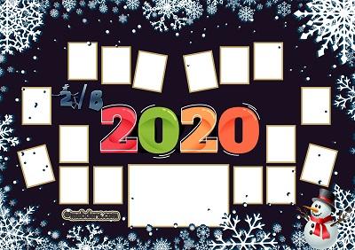 2B Sınıfı için 2020 Yeni Yıl Temalı Fotoğraflı Afiş (16 öğrencilik)