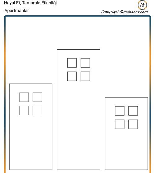 Hayal Et, Tamamla Etkinliği 18 - Apartmanlar