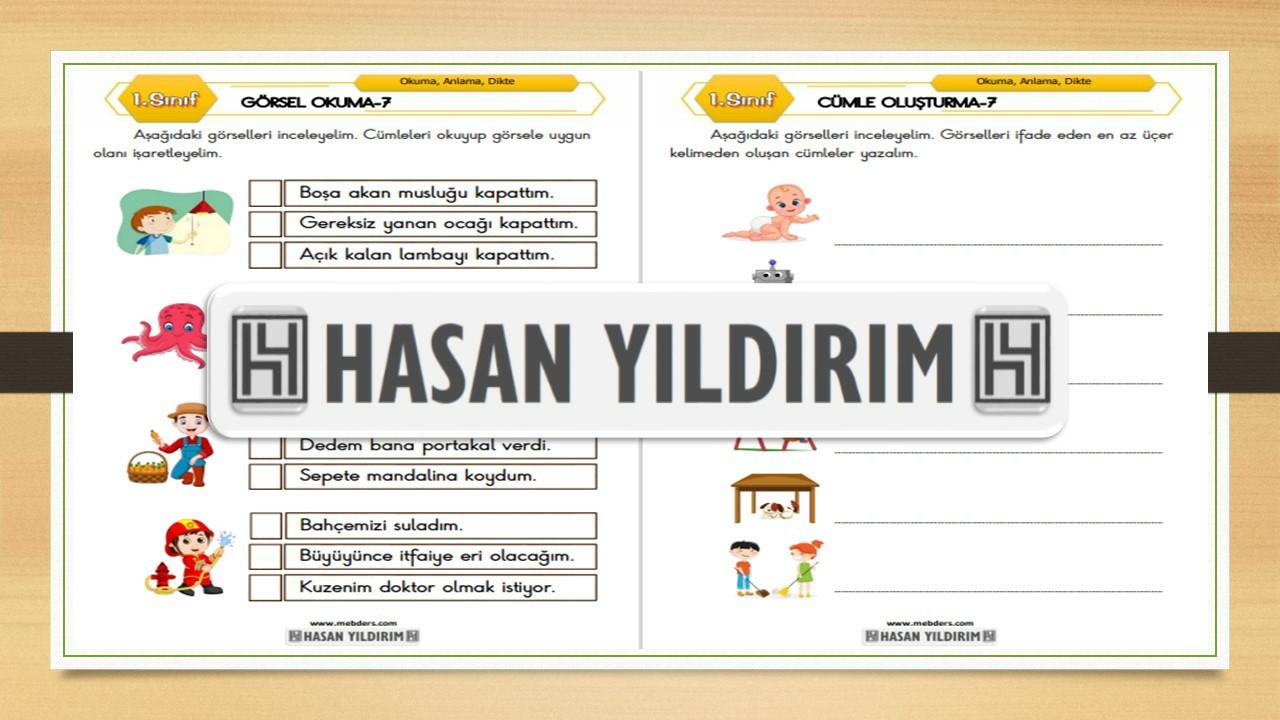 1.Sınıf Türkçe Görsel Okuma ve Cümle Oluşturma-7