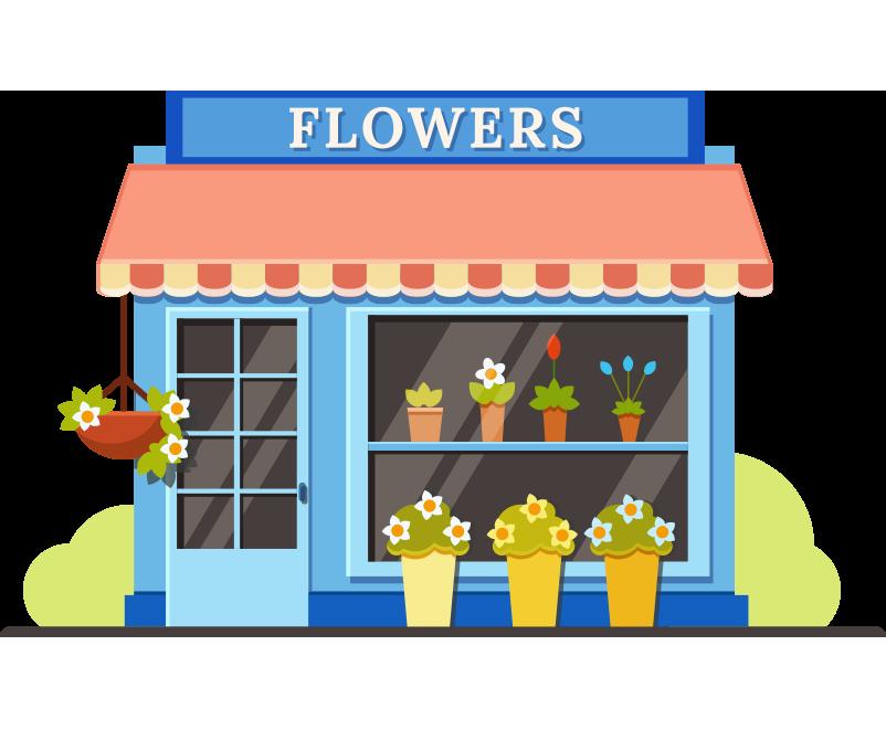 Çiçekçi dükkanı bina resmi png