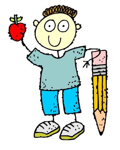 Clipart kaleme dayanmış çizgi çocuk resmi png