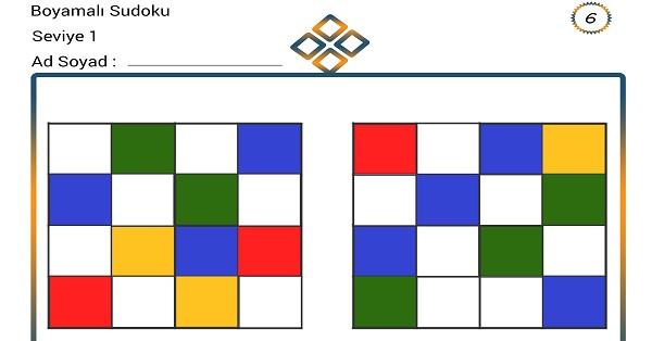 Boyamalı Sudoku 6