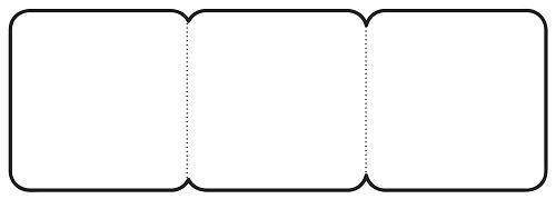 3'lü akordion not yazma şablonları