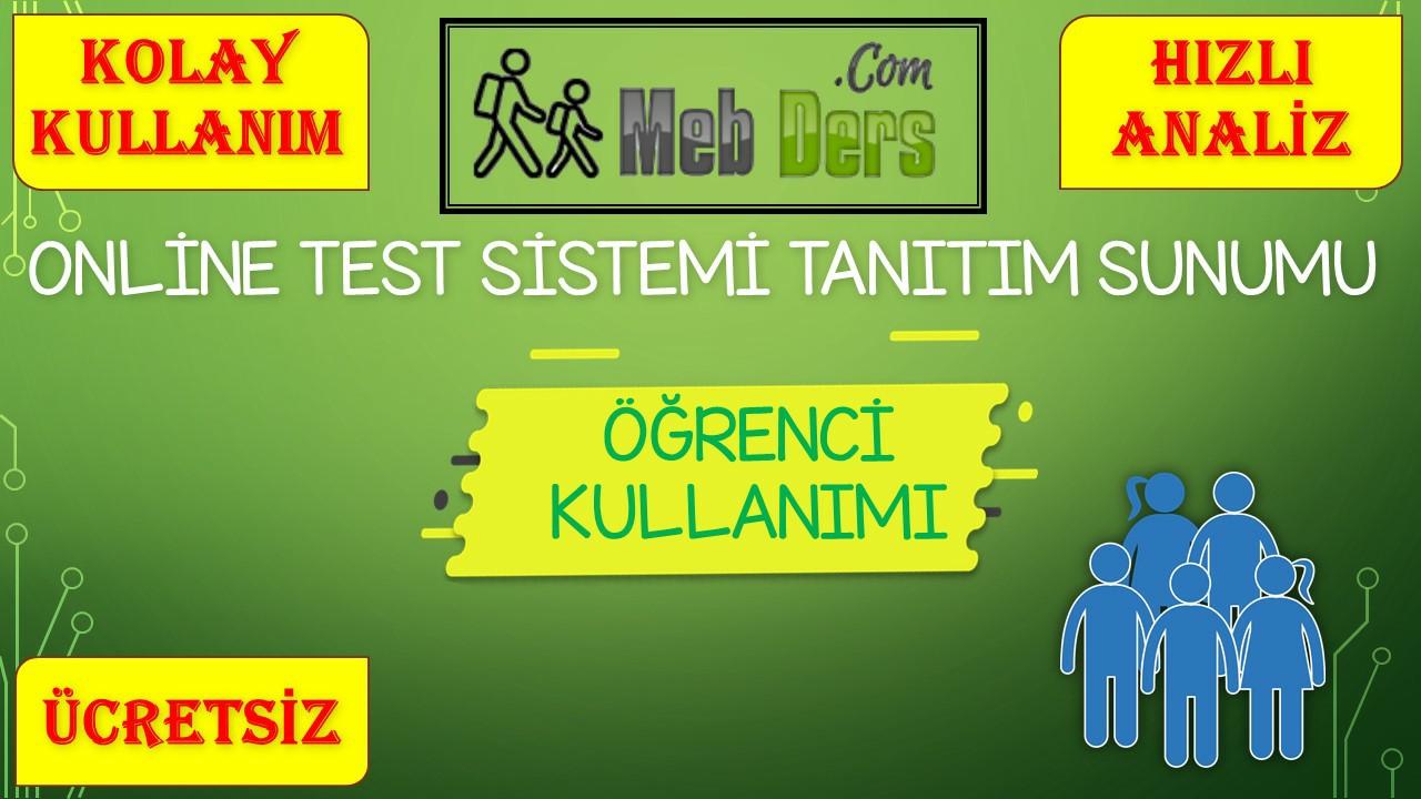Online Test Sistemi Öğrenci Kullanım Sunumu
