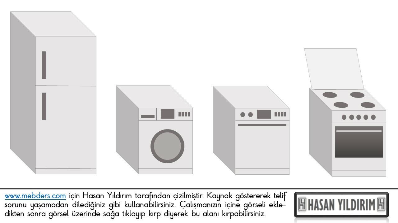 Buzdolabı Çamaşır Makinesi Bulaşık Makinesi Ocak Fırın PNG