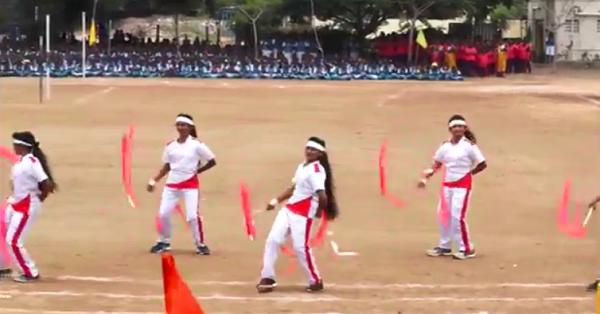 Sportif okul gösterisi (video)