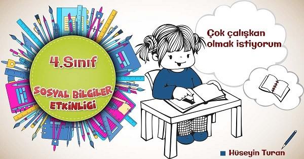 4.Sınıf Sosyal Bilgiler Geçmişten Bugüne Çocuk Oyunları Etkinliği