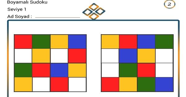 Boyamalı Sudoku 2