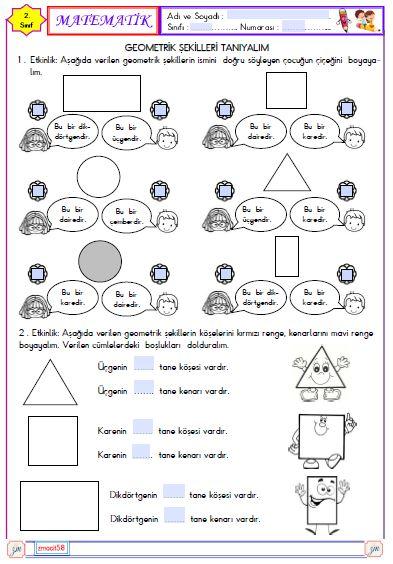 2.Sınıf Matematik Geometirk Şekiller 1