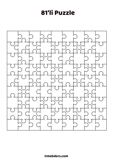 81'li puzzle şablon 2