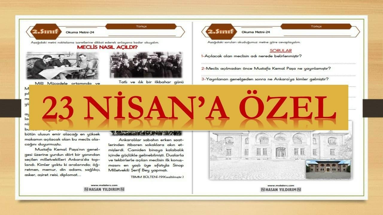 2.Sınıf Türkçe Okuma Metni-24 (Meclis Nasıl Açıldı?)