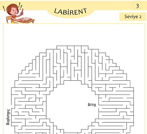 Seviye 2 - Labirent Bulmaca Etkinliği 3