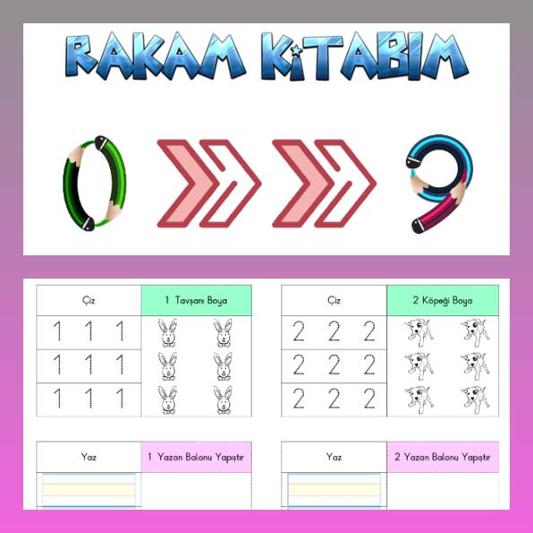 1. Sınıf Matematik - Eğlenceli Rakam Etkinlikleri