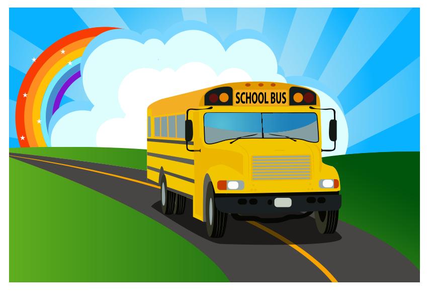 Arka planlı okul otobüsü resmi png