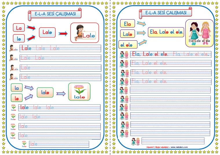 1.Sınıf İlkokuma Yazma