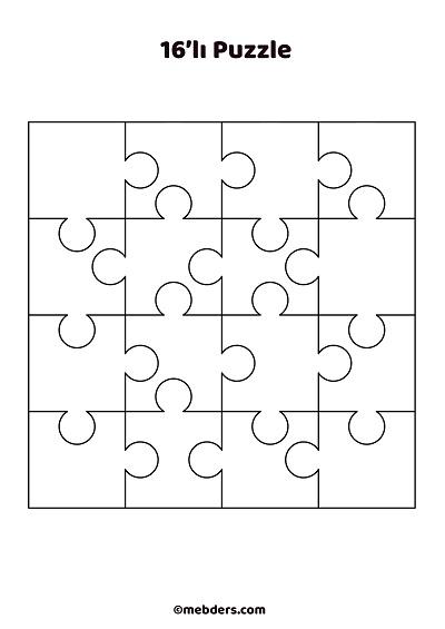 16'lı puzzle şablon 2