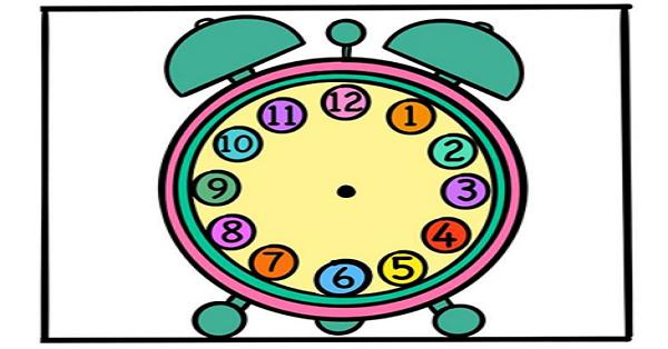 1.Sınıf Matematik Saatleri Öğreniyorum Yaz Sil Şablonları