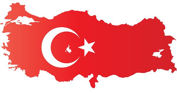 Ay Yıldızlı Türkiye Haritası Şablonu (png formatında)
