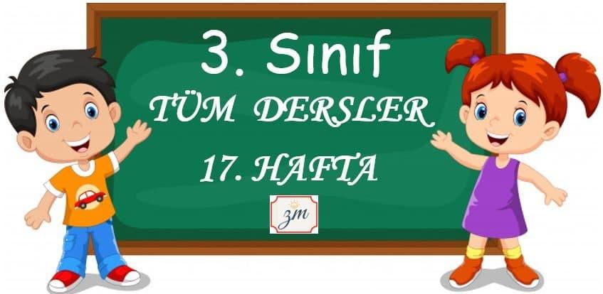 3.Sınıf 17. Hafta Tüm Derslerin Etkinlikleri