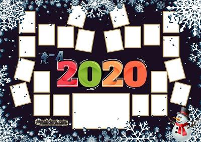 4A Sınıfı için 2020 Yeni Yıl Temalı Fotoğraflı Afiş (22 öğrencilik)