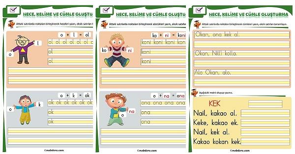 1.Sınıf İlk Okuma O Sesi Birleştirme Etkinliği