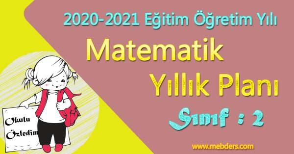 2020 - 2021 Yılı 2.Sınıf Matematik Yıllık Planı (MEB)