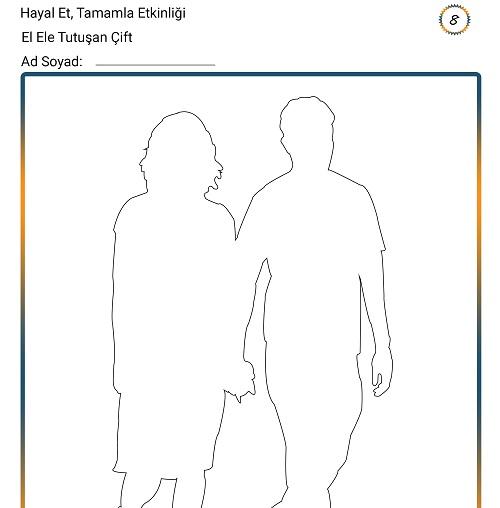 Hayal Et, Tamamla Etkinliği 8 - El Ele Tutuşan Çift