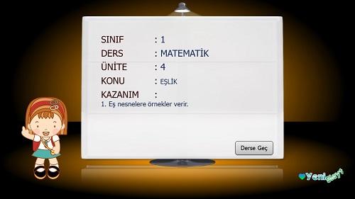 1.Sınıf Matematik Eşlik Sunusu